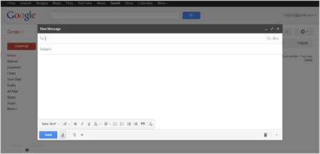 preview of new compose box in full screen in gmail