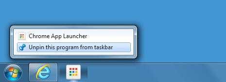 disable remove chrome app launcher