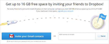 get more free space on dropbox account