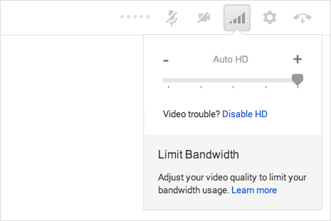 hd video setting in google hangouts videos chat