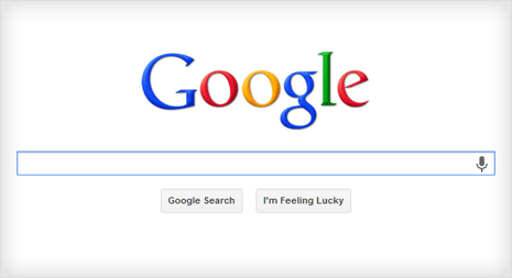 google website with classic google logo without doodle photo