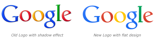 compare old and new google logo design