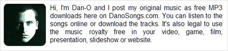 Dano songs music tracks for Youtube videos