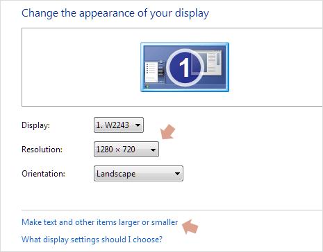 Change Windows screen resolution