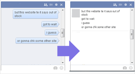 Change Facebook Chat Bubble Layout