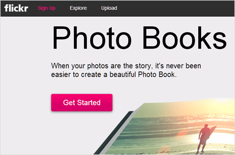 Create Flickr Photo Book online