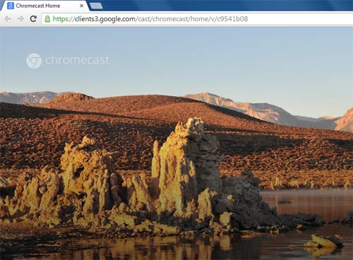Google Chromecast Screensaver slideshow