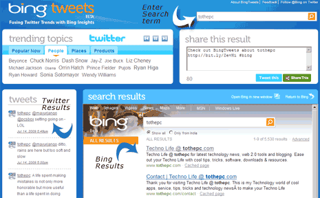 bing-tweets-website