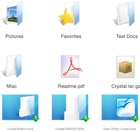 crystal-glossy-icons-set