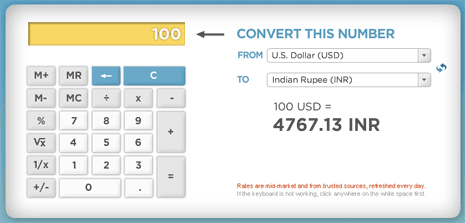 Online Currency Conversion Calculator