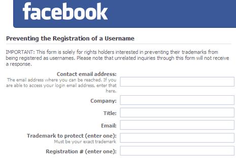 facebook-username-registration