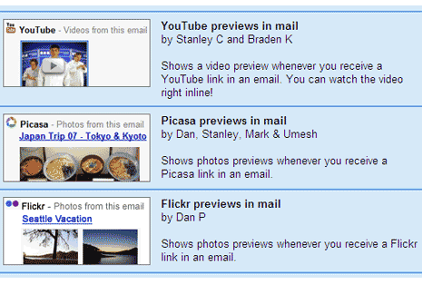 gmail-preview-youtube-picasa-flickr