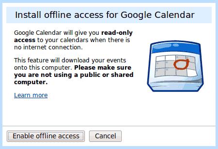 google-calendar-offline-access