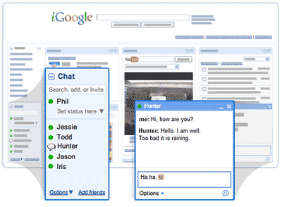 google-chat-on-igoogle-page