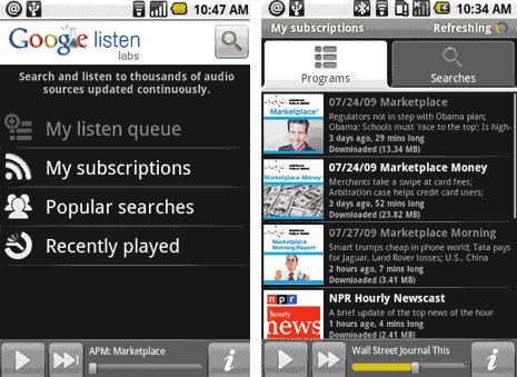 google-listen-android-app
