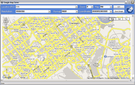 Download & Save Google Maps as images on PC