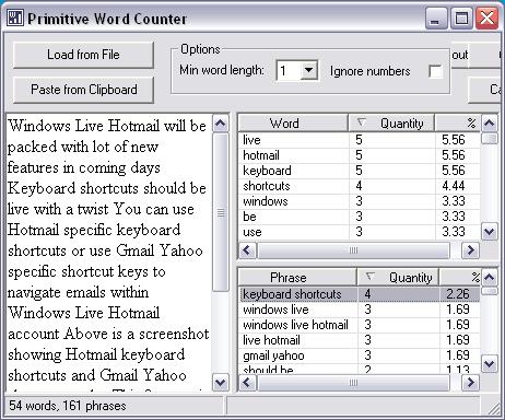 keywords-words-density-extract