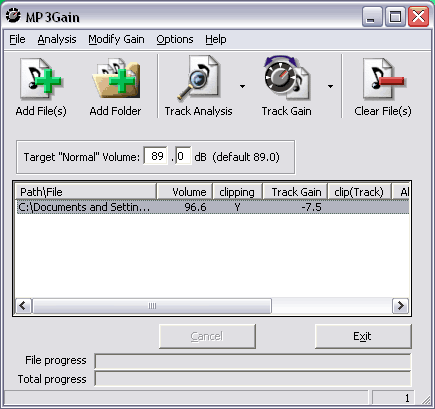 MP3Gain (Stable) screenshot