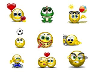 Click here to download sets of different free MSN winks and emoticons.