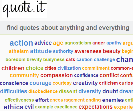 quotes for inspiration. Each quote has reference link