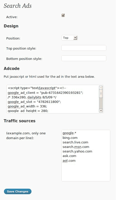 search-ad-wordpress-plugin
