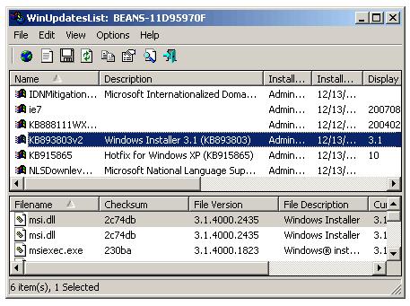 windows-update-xp-list