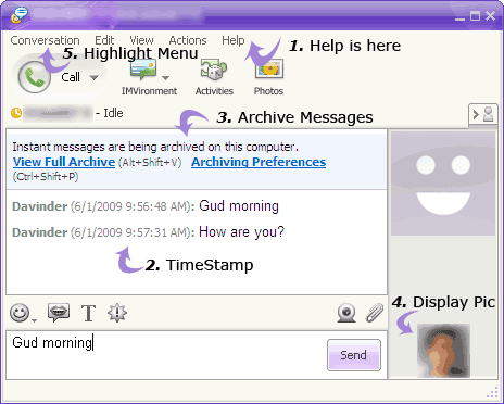 yahoo-messenger-shortcut-keys